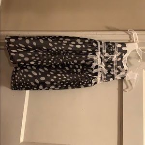 Isobella & Chloe (black and white polka dot dress)